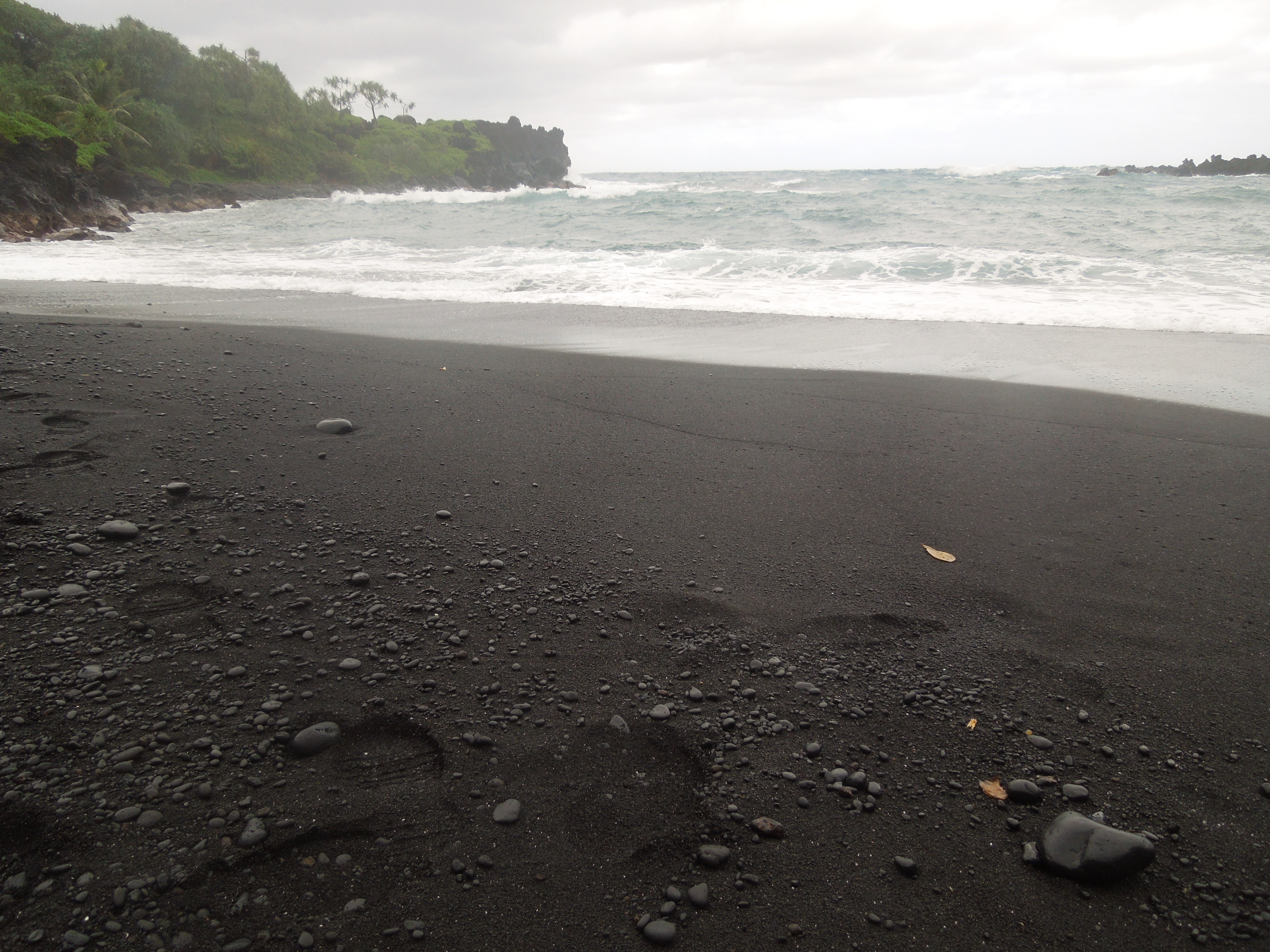 From There We Took A Turn Off The Main Trail To Follow Side Down Black Sand Beach