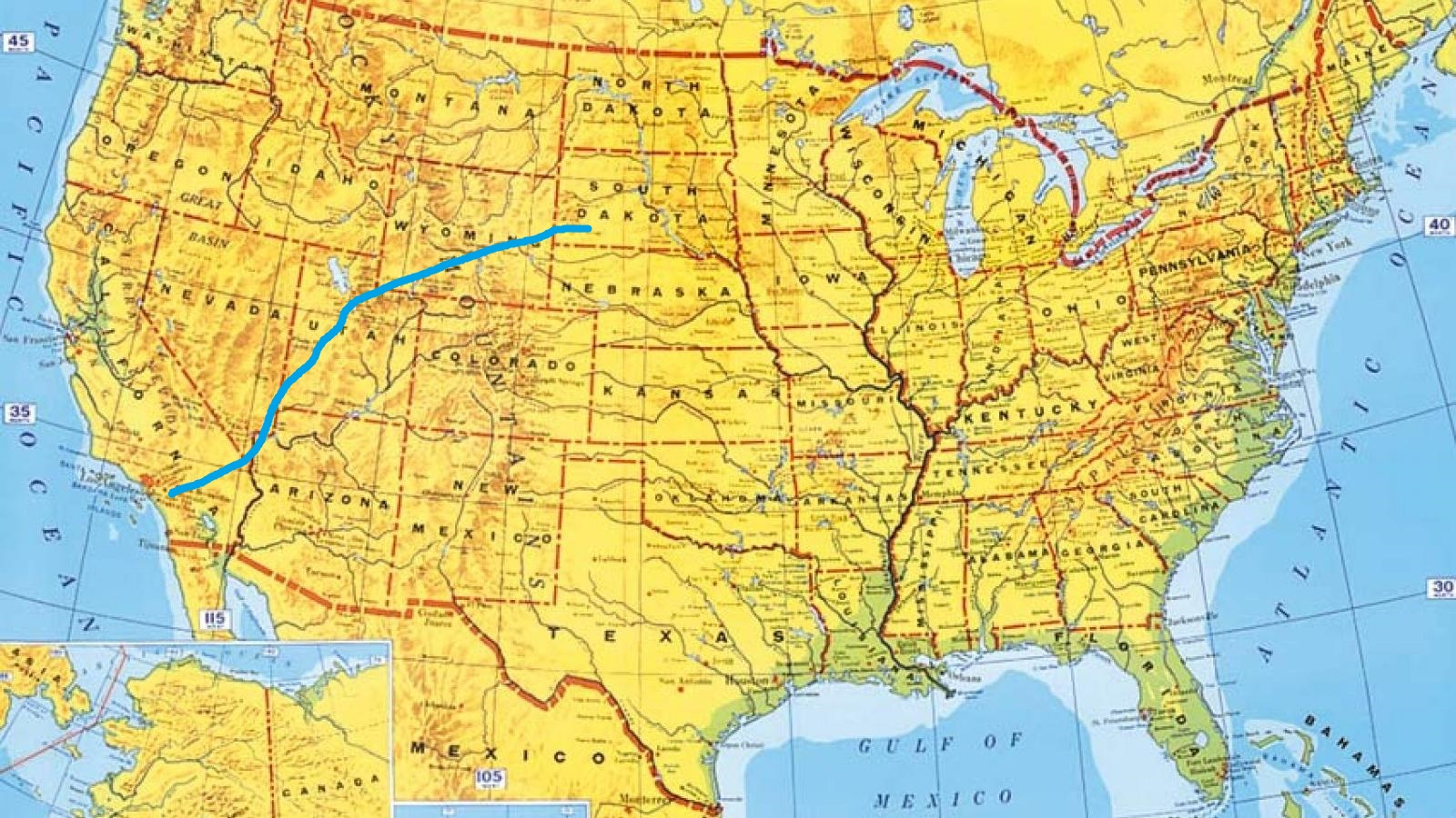 Road Trip Photo Diary South Dakota To Los Angeles  The Whiskey - Los angeles map wallpaper