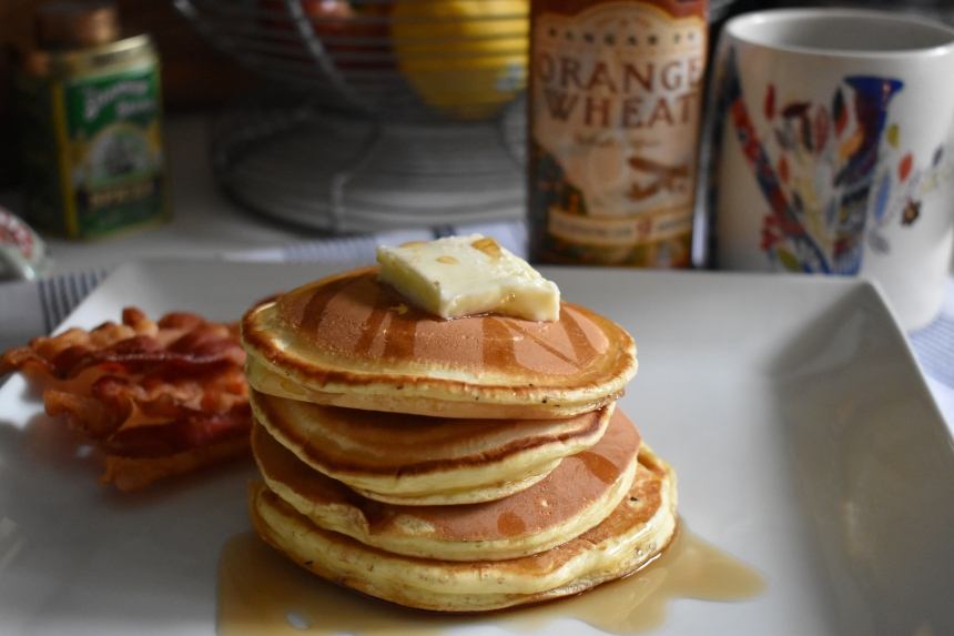 The beeroness, craft beer, hangar 24, hangar 24 orange wheat, beer, buttermilk pancakes, homemade pancakes, how to make homemade pancakes, cooking with beer, beer recipes, pancakes