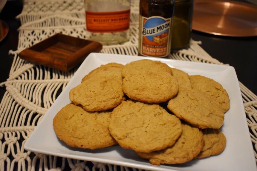 Blue moon, beer, blue moons beers, pumpkin beer, blue moon harvest pumpkin wheat, soft batch cookie recipes, soft batch cookie recipe, brown sugar cookies, brown sugar cookie recipes, beer cookies, beer cookie recipes, beer recipes, recipes that use beer, dessert recipes made with beer, cookies made with beer, pumpkin cookies, pumpkin cookie recipes